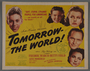 """Set of six lobby cards for the movie, """"Tomorrow- the World!"""" (1944)"""
