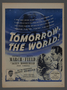 """Magazine advertisement for the film, """"Tomorrow- The World!"""" (1944)"""