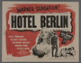 """Pair of lobby cards for the film, """"Hotel Berlin"""" (1945)"""