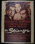 "Re-release poster for the film, ""The Stranger"" (1946)"