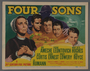 """Set of seven lobby cards for the film """"Four Sons"""" (1940)"""