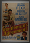 """U.S. One Sheet Poster for the film """"Gentleman's Agreement"""" (1947)"""