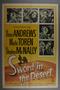"""Poster for the film """"Sword in the Desert"""" (1949)"""
