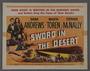 "Set of eight lobby cards for the film ""Sword in the Desert"" (1949)"