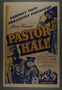 """U.S. one-sheet poster for the movie """"Pastor Hall"""" (1940)"""