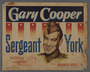 """Set of three lobby cards for the film """"Sergeant York"""" (1941)"""