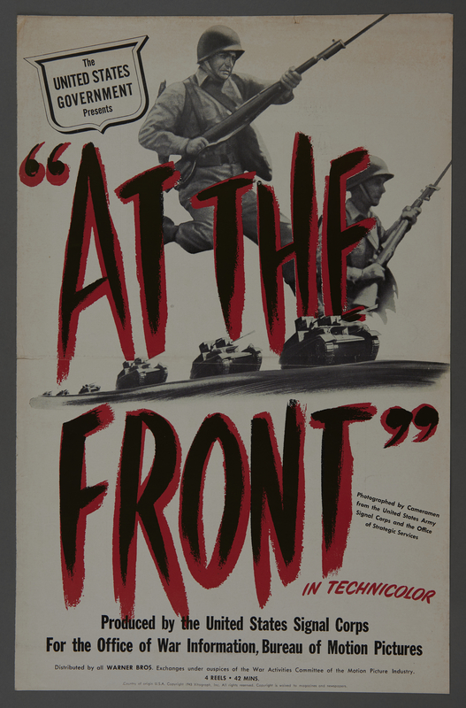 """2018.590.99 front Pressbook cover for the film """"At the Front in North Africa"""" (1943)"""