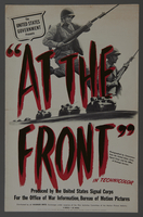 """2018.590.99 front Pressbook cover for the film """"At the Front in North Africa"""" (1943)  Click to enlarge"""