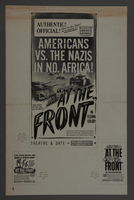 """2018.590.99 back Pressbook cover for the film """"At the Front in North Africa"""" (1943)  Click to enlarge"""