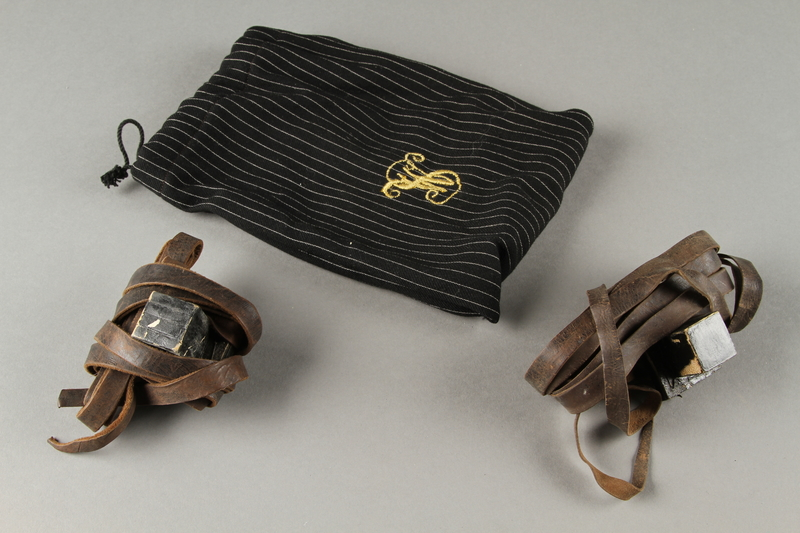 2019.131.2 a-c front Tefillin with pouch