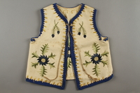 2019.302.2 front Hand-embroidered child's vest made by a Polish Jewish woman  Click to enlarge