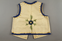 2019.302.2 back Hand-embroidered child's vest made by a Polish Jewish woman  Click to enlarge