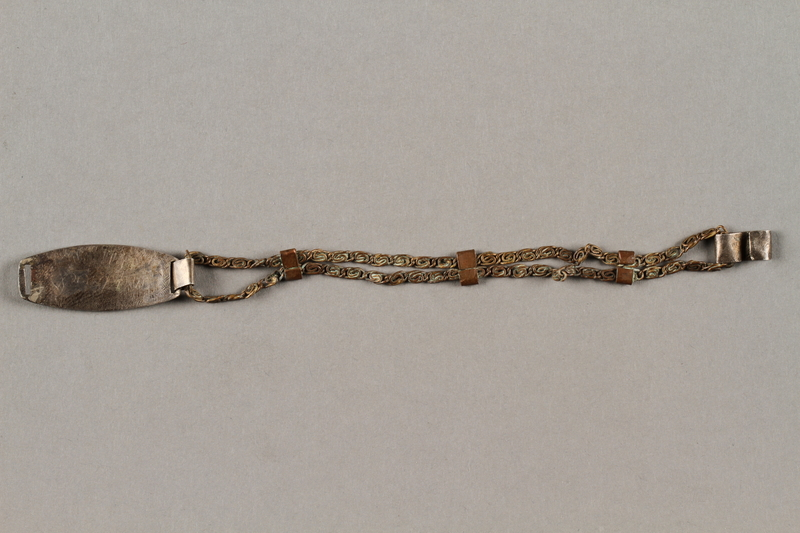 2019.183.6 back Bracelet made by Vapniarka prisoners