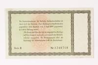 1992.68.1 back German Konversionskasse scrip, 5 Reichsmark note  Click to enlarge