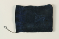 1992.8.17 front Pair of tefillin with blue velvet bag used by a Jewish refugee  Click to enlarge