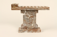 1992.8.22_a-d side Portable marble Hanukkah menorah with 4 sections made for a rabbi  Click to enlarge