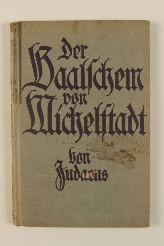 1992.8.3_a front Der Baalschem von Michelstadt : Kulturgeschichte. Erzahlung