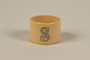 Napkin ring with a silver initial S used for Passover seder by a Jewish refugee