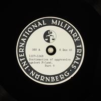 Day 14 International Military Tribunal, Nuremberg (Set A)  Click to enlarge