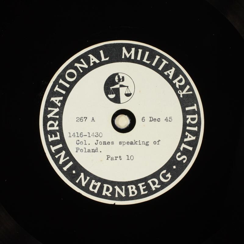 Day 14 International Military Tribunal, Nuremberg (Set A)