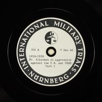 Day 15 International Military Tribunal, Nuremberg (Set A)  Click to enlarge