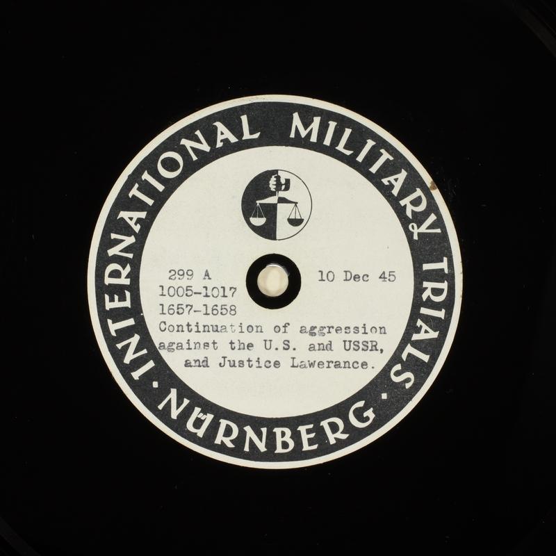 Day 15 International Military Tribunal, Nuremberg (Set A)