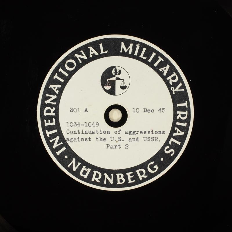 Day 16 International Military Tribunal, Nuremberg (Set A)