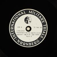 Day 16 International Military Tribunal, Nuremberg (Set A)  Click to enlarge