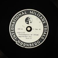 Day 17 International Military Tribunal, Nuremberg (Set A)  Click to enlarge