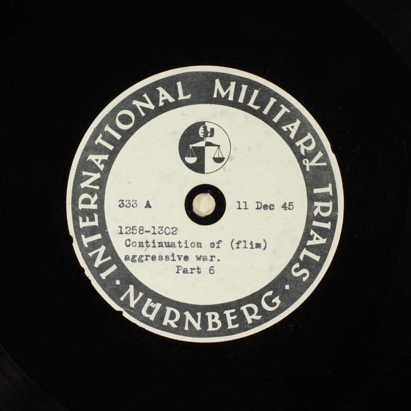 Day 17 International Military Tribunal, Nuremberg (Set A)