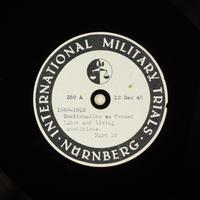 Day 18 International Military Tribunal, Nuremberg (Set A)  Click to enlarge