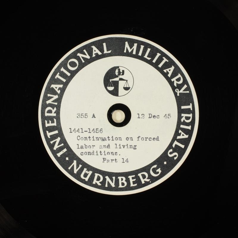 Day 18 International Military Tribunal, Nuremberg (Set A)