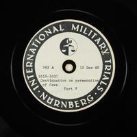 Day 19 International Military Tribunal, Nuremberg (Set A)  Click to enlarge