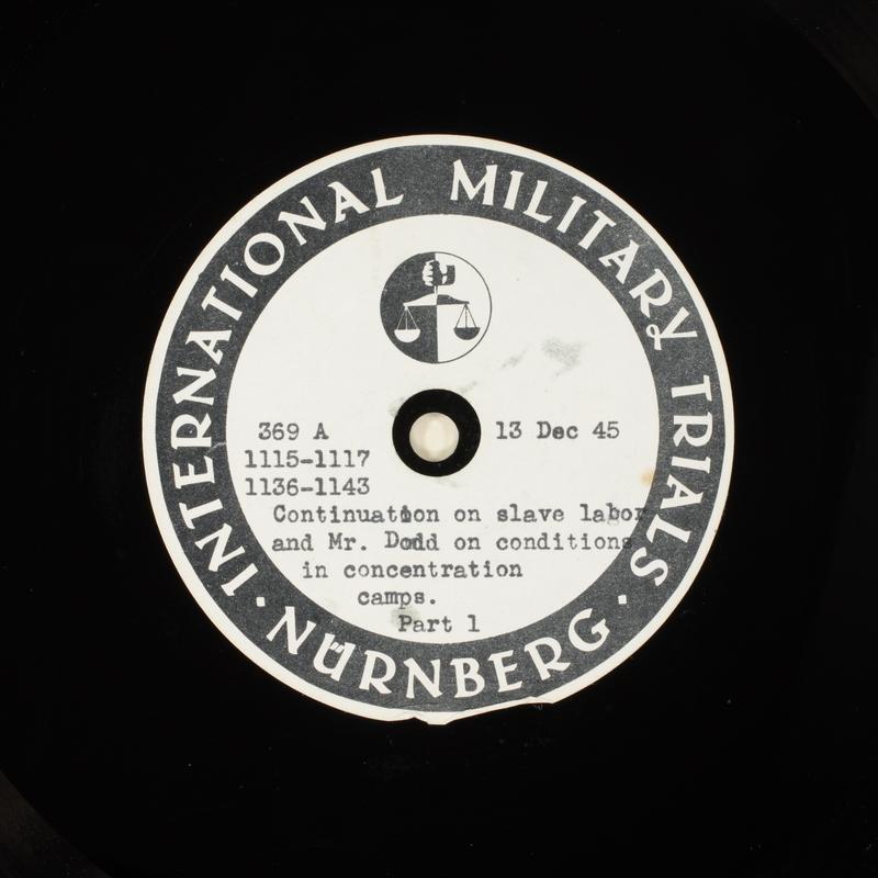 Day 19 International Military Tribunal, Nuremberg (Set A)