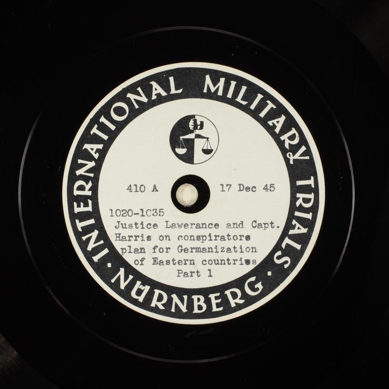 Day 21 International Military Tribunal, Nuremberg (Set A)