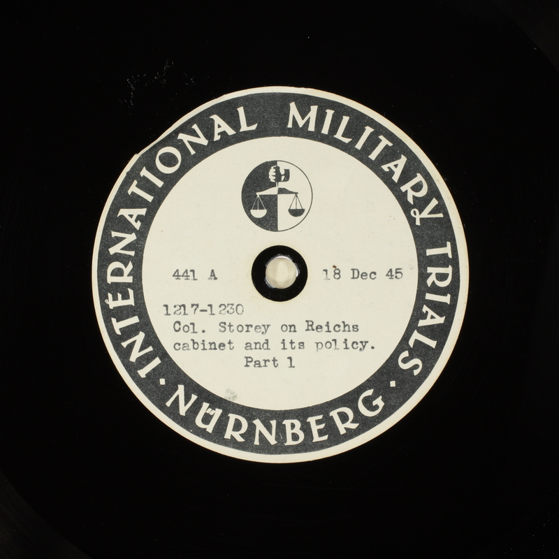 Day 22 International Military Tribunal, Nuremberg (Set A)