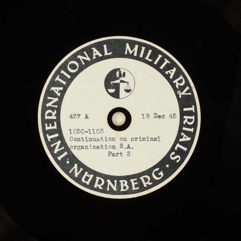 Day 23 International Military Tribunal, Nuremberg (Set A)