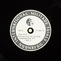 Day 23 International Military Tribunal, Nuremberg (Set A)  Click to enlarge