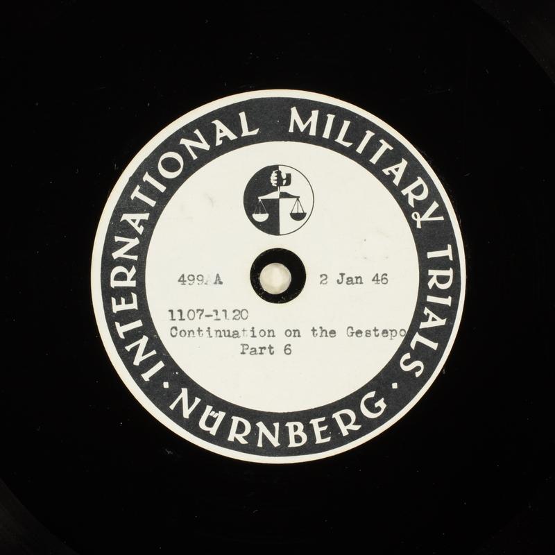 Day 25 International Military Tribunal, Nuremberg (Set A)