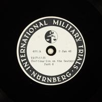 Day 25 International Military Tribunal, Nuremberg (Set A)  Click to enlarge