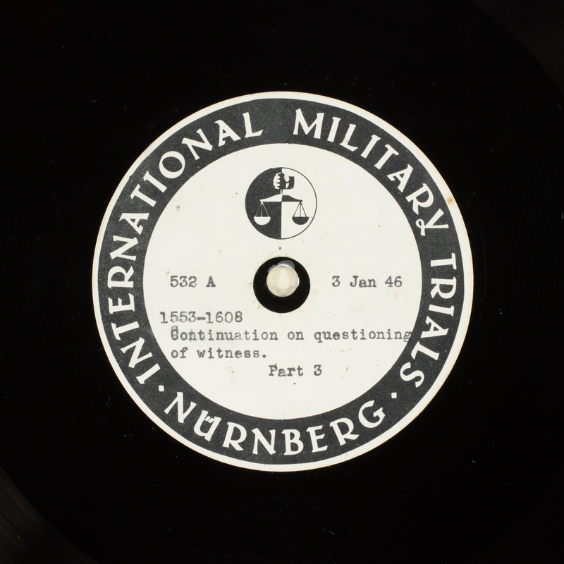 Day 26 International Military Tribunal, Nuremberg (Set A)