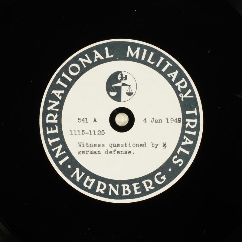 Day 27 International Military Tribunal, Nuremberg (Set A)