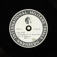 Day 28 International Military Tribunal, Nuremberg (Set A)  Click to enlarge