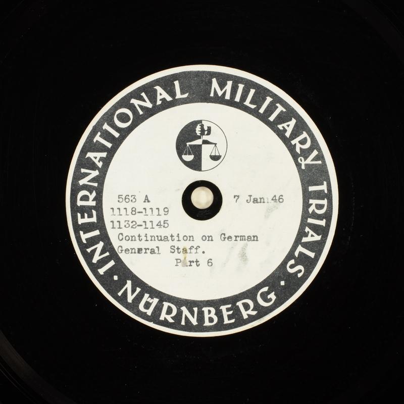 Day 28 International Military Tribunal, Nuremberg (Set A)