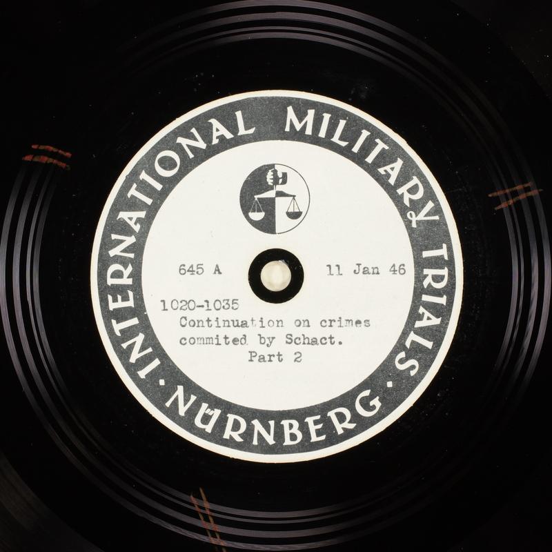 Day 32 International Military Tribunal, Nuremberg (Set A)