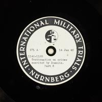 Day 33 International Military Tribunal, Nuremberg (Set A)  Click to enlarge