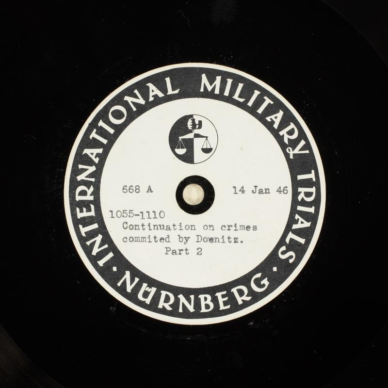 Day 33 International Military Tribunal, Nuremberg (Set A)