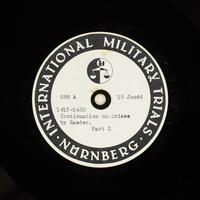 Day 34 International Military Tribunal, Nuremberg (Set A)  Click to enlarge
