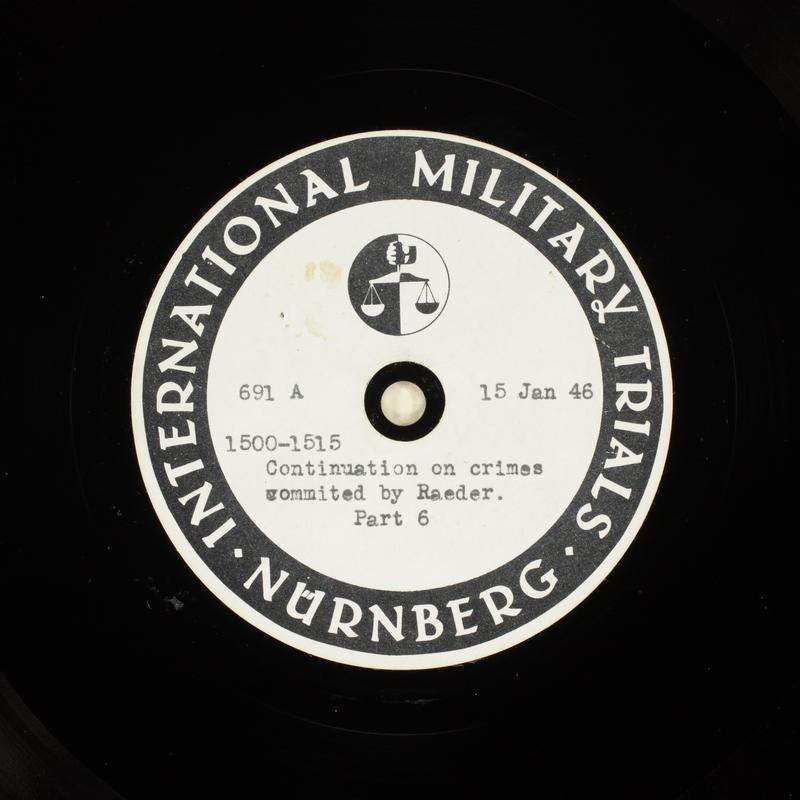 Day 34 International Military Tribunal, Nuremberg (Set A)