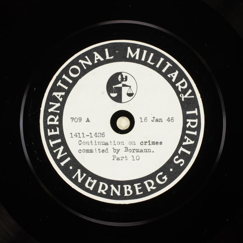 Day 35 International Military Tribunal, Nuremberg (Set A)
